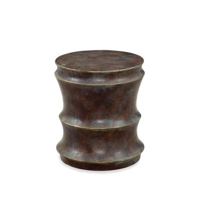 Camilla Accent Side Table in Antiqued Rusted - A2274EC
