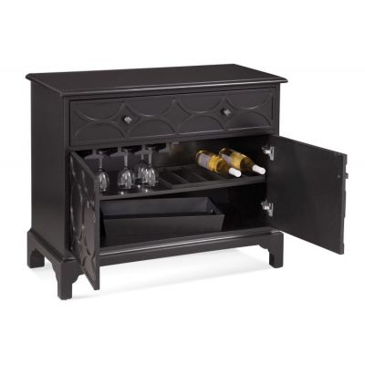 Quinn Hospitality Cabinet in Black Finish - A2356EC