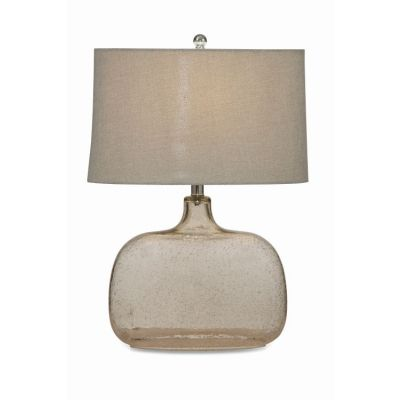 Portman Table Lamp  in Clear Seeded Glass - L2491TEC