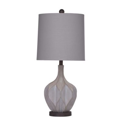 Lansing Table Lamp in Cement Finish - L2978TEC