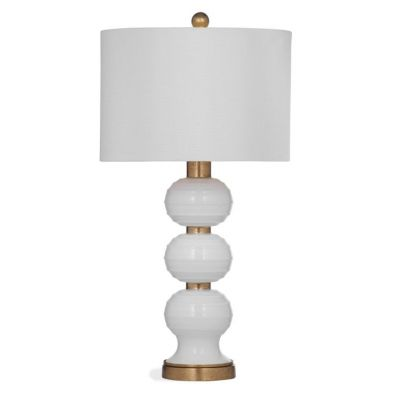 Willa Table Lamp in White w & Gold Leaf - L3013TEC