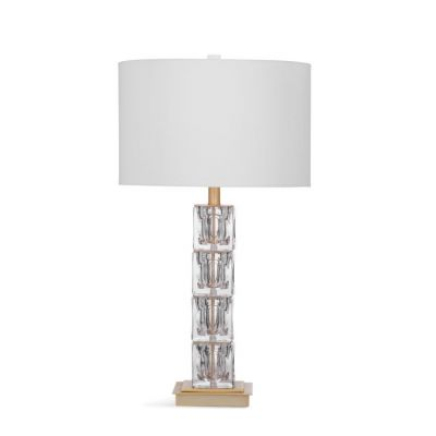 Claudette Table Lamp in Ant Brass & Clear Glass - L3276TEC
