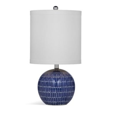 Alden Table Lamp in Blue & White - L3308TEC