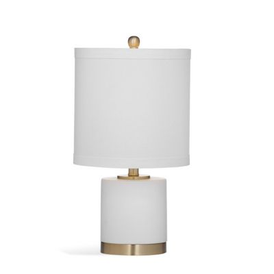 Audrey Table Lamp in White & Gold Brass - L3310TEC