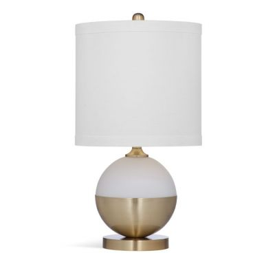 Salina Table Lamp in White & Brass - L3313TEC