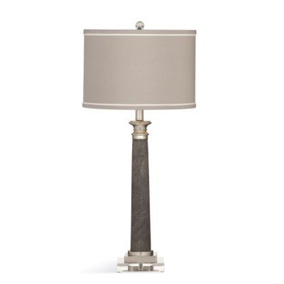 Savona Table Lamp in Gray Shagreen - L3343TEC