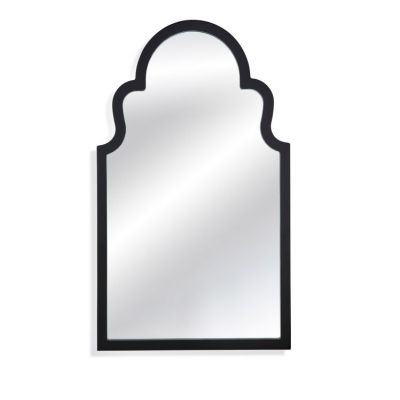 Elberta Wall Mirror in Black Lacquer - M3665EC