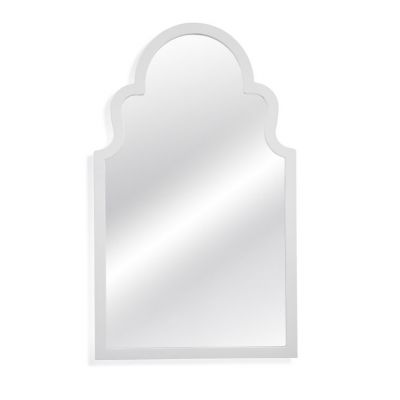 Myrna Wall Mirror in White Lacquer - M3666EC