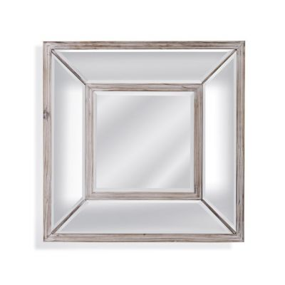 Pompano Square Wall Mirror in Scrubbed Pine - M3847BEC
