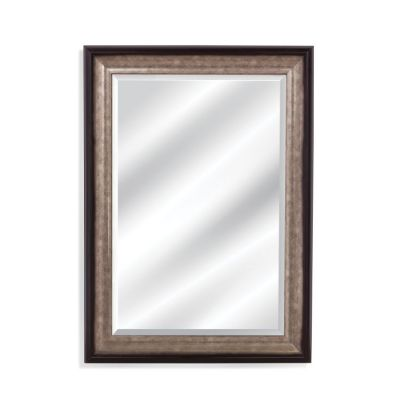 Griffin Wall Mirror in Black & Silver - M4025BEC