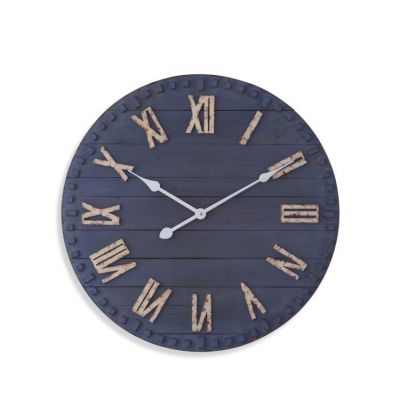 Limoges Wall Clock in Distressed Blue - MC4021EC