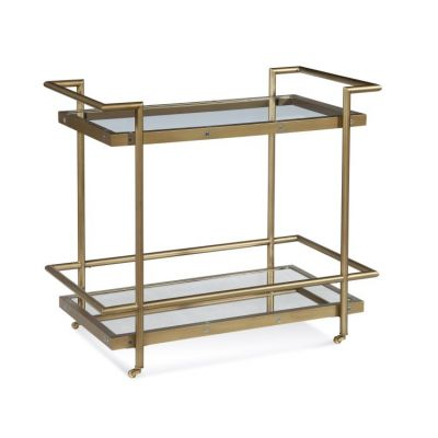 Fouquet Tea Cart in Satin Brass - T2739-471EC