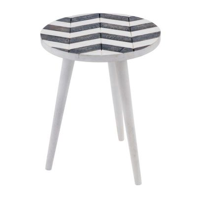 Mango Side Table in White/Gray - YFUR-BT116
