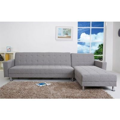 Frankfort Convertible Sectional Sofa Bed in Ash - ADC-FRA-SEC-NDX-ASH