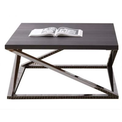Aegean Square Coffee Table in Black Nickel - AG150C