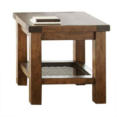 Hailee End Table in Distressed Oak - HA150E