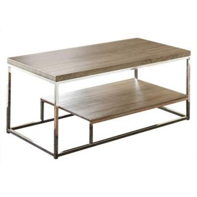 Lucia Coffee Table in Gray and Brown - LU350C