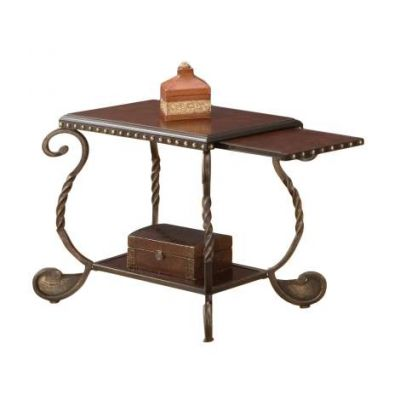 Rosemont Antique Brown Chairside End Table - RM200EC