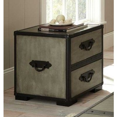 Rowan End Table in Weathered Gray Finish - RW300E