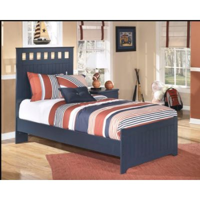 Leo Wood Ginny's Twin Panel Bed in Blue - 001248_Kit
