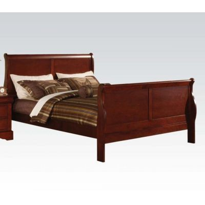 Louis Philippe III Eastern King Bed in Cherry - 000797_kit