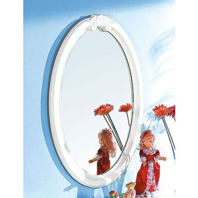 Flora Oval Mirror in White - 01684