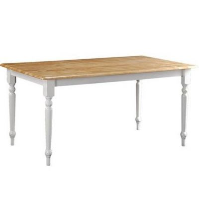 Farmhouse Dining Table in Natural and White - 02247NW