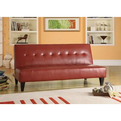 Conrad Adjustable Aaron's Sofa in Red PU
