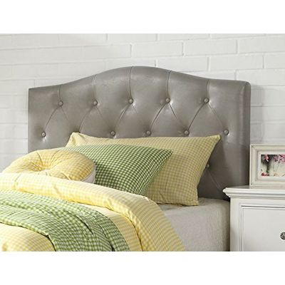 Viola Queen/Full Headboard with Gray PU Finish - 39131