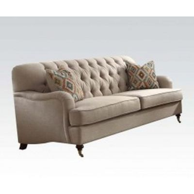Alianza Aaron's Sofa with 2 Pillows in Biege - 52580