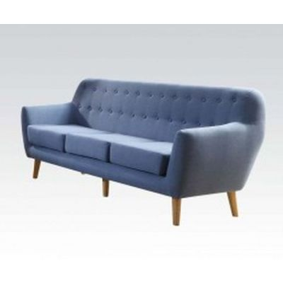 Ngaio Linen Progressive Sofa in Blue - 52655