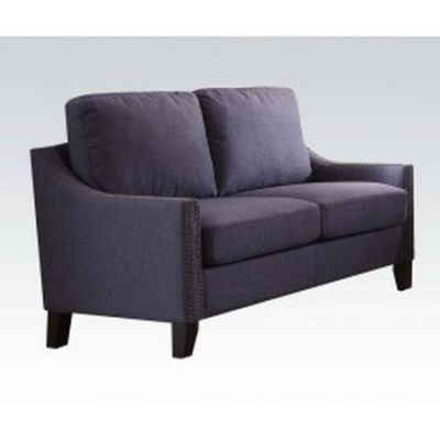 Zapata Loveseat with Blue Linen Finish - 53551