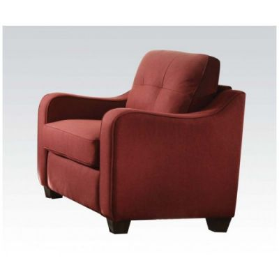 Cleavon II Aaron's Chair with Red Linen Finish - 53562