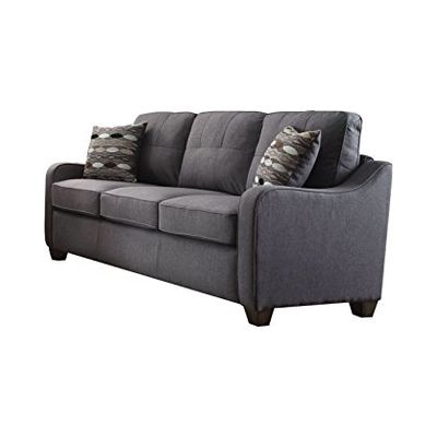 Cleavon II - Linen Sofa and 2 Pillows in Grey - 53790
