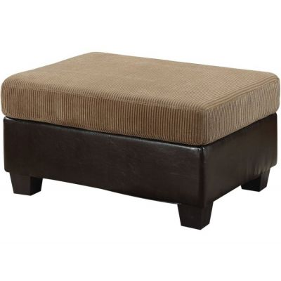 Connell Ottoman with Light Brown & Espresso - 55947