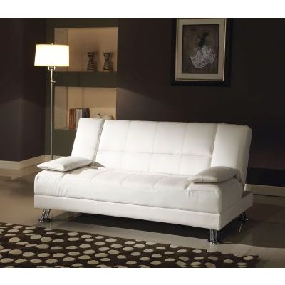 Fae Adjustable Sofa with 2 Pillows in White PU - 57079