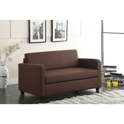 Conall Adjustable Sofa in Chocolate Fabric - 57085