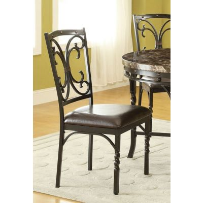 Burril Stoneberry Side Chair in PU - 70586