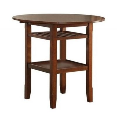 Tartys Counter Height Table in Cherry - 72535