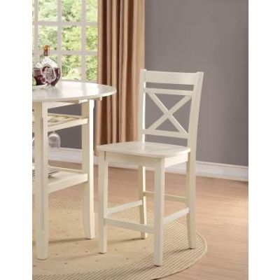 Tartys Counter Height Chair in Cream - 72547