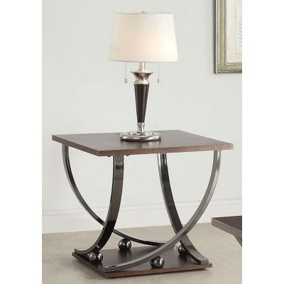 Isiah End Table in Black Nickel - 80357