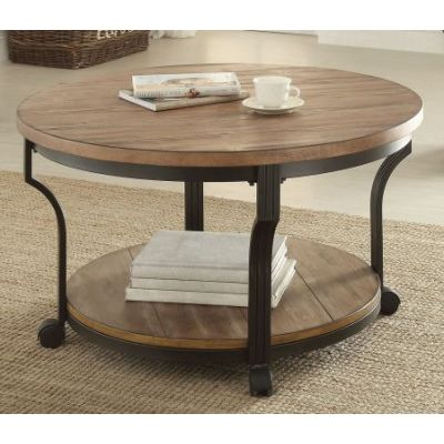 Geoff Coffee Table in Oak & Black - 80460