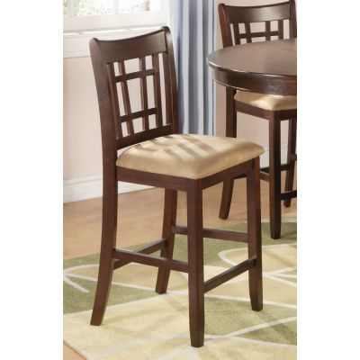 Lavon Dark Cherry Counter Height Stool Set of 2 - 100889N