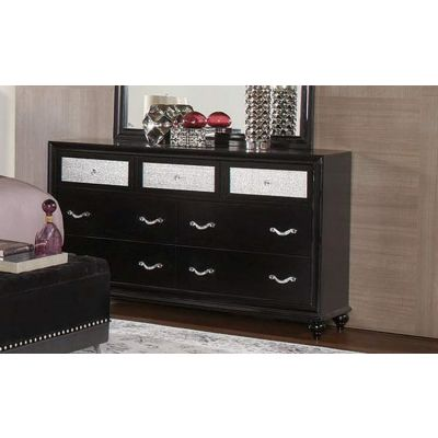 Barzini 7 Drawer Dresser with Metallic Acrylic Drawer - 200893