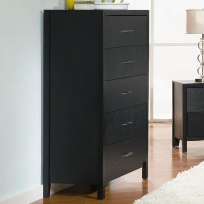 Grove 5 Drawer Chest in Black Finish - 201655