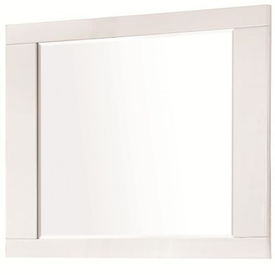 Felicity Modern Mirror in High Gloss White - 203504