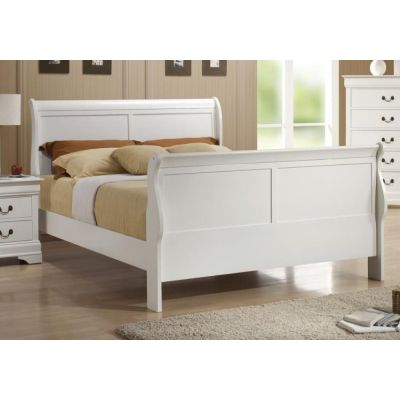 Queen Bed in White Finish - 204691Q