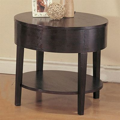 Gough Round End Table with Shelf - 3940
