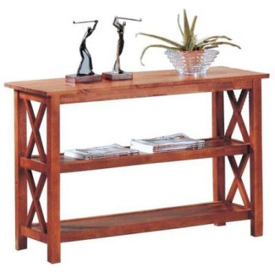Brown Briarcliff Sofa Table with 2 Shelves - 5908