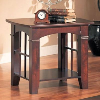 Cherry Finish End Table - 700007